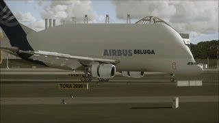 Airbus Beluga (A300-600ST) Visit Hamburg Airport طاائره الشحن ايرباص بولقا في مطار هامبورغ