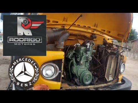 MOTOR OM 352 FUNCIONANDO NA BANCADA  MB 1113 TURBO