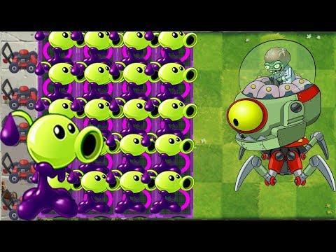 Plants vs Zombies 2 Mod : Goo Peashooter Max Level Pow up! vs Zombot Modern Day