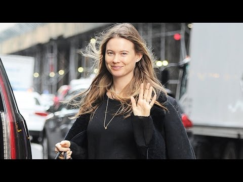 Behati Prinsloo Puts Her Baby Bump on Display in NYC: See the Pic!