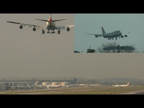 Crosswind Landings London Heathrow Airport Dual Camera