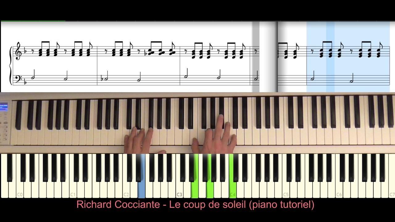 Richard cocciante le coup de soleil piano tutoriel youtube - Cocciante le coup de soleil ...