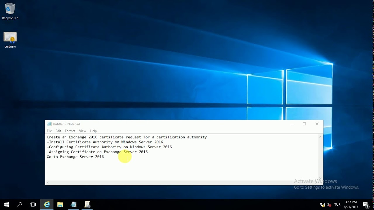 Install And Configure Certificate Authority In Windows Server 2016
