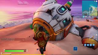 Launch the Fortnite spaceship challenge- collect & install missing parts, where is the spaceship