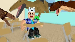 ROBLOX: THE SCHOOL WAS INVADED BY DINOSAURS!! -Play Old man