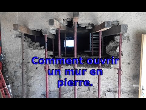 comment ouvrir un mur de pierre part 1 bricol tout youtube. Black Bedroom Furniture Sets. Home Design Ideas
