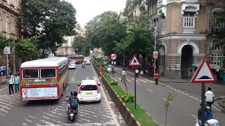 RAINY MUMBAI MARINE DRIVE (Part 1/3): Double Decker Ride CST-Cuffe Parade via Marine Drive