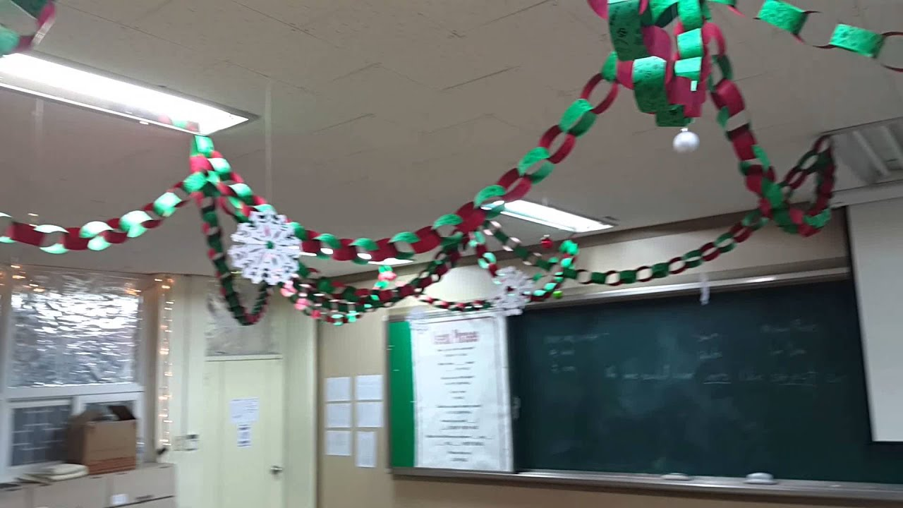 Christmas classroom - YouTube