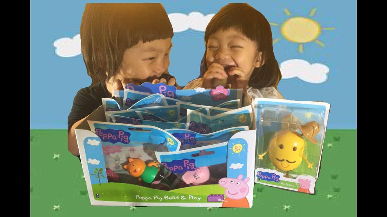 2016美國最新 粉紅豬小妹樂高抽抽樂&馬鈴薯先生Peppa pig build&play/ Mr.Potato - YouTube