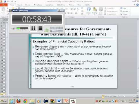 Government & Non-Profit Accounting:  Analysis of Governmental Financial Performance