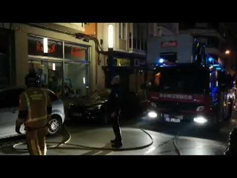 La policía investiga el incendio de la calle Greco 11 12 18