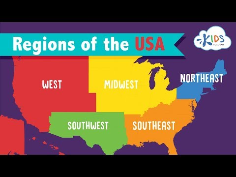 5 Regions Of The United States For Kids | Geography For Children | Kids Academy
