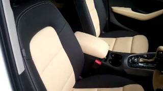 audi q5 charcoal gray beige leather seat