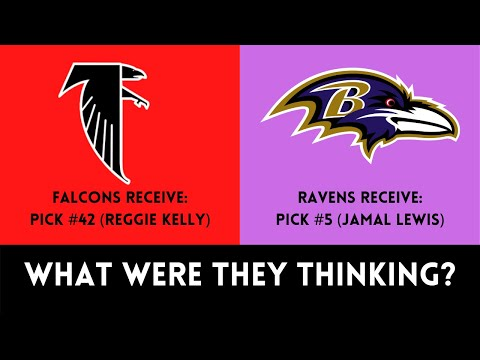 [OC] [Highlight] In 1999, the Falcons traded away their 1st round pick in 2000 for a 2nd round pick. The Falcons chose TE Reggie Kelly, who scored 2 TDs, and went 4-12 in 1999. The Ravens used the #5 pick on RB Jamal Lewis. This is the story of the worst draft trade in Falcons history