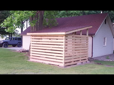 DIY 12' X 12' Wood Shed