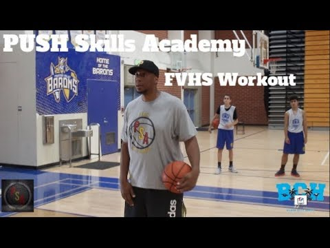 PUSH Skills Academy   Fountain Valley High School Basketball Workout