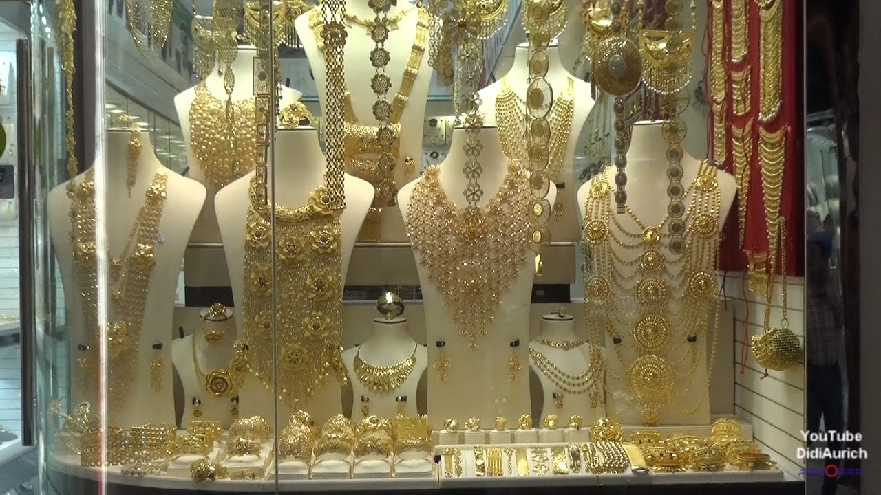 VAE Gold Souk Dubai Gold Souq Deira Gold Street Old Dubai UAE Amazing  collections of gold Silver