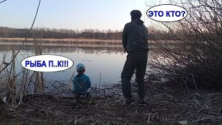 Рыбалка на поплавок весной С сыном на реке Открытие 2021