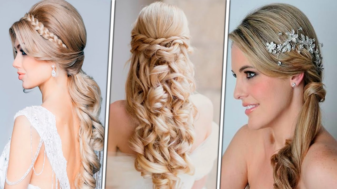 23 Romantic Wedding Hairstyles For Long Hair: Romantic Hairstyles Hair Tutorial, Tutorial, Curly, How To