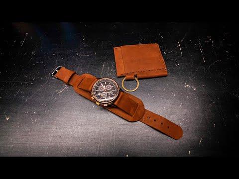 Ремешок для часов и Card Holder за 5$, или как начать работать с кожей и сделать их самому