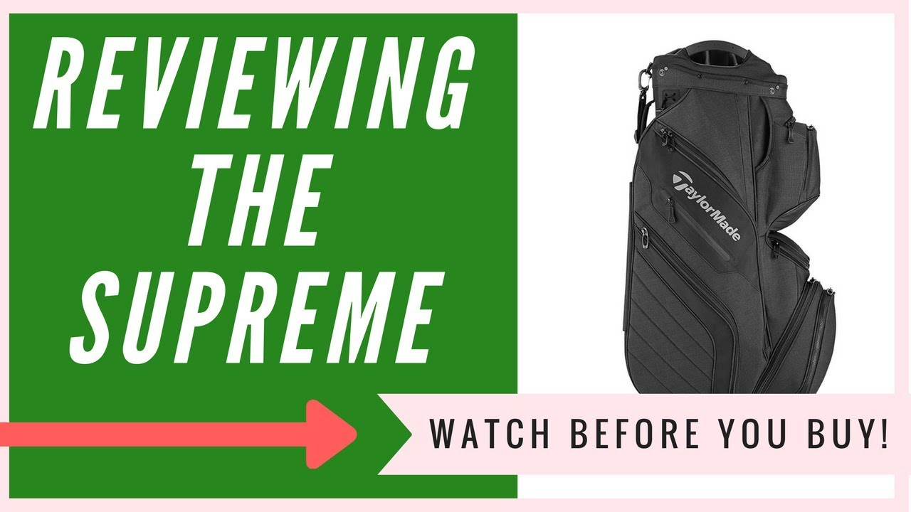 84048db087 Taylormade Supreme Cart Bag Review | An HONEST Review - YouTube