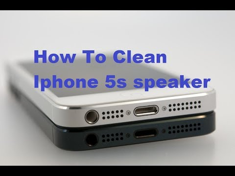 how to clean iphone 5s speaker