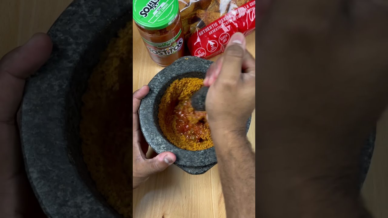Satisfying Crushing of Mexican Tortilla Chips