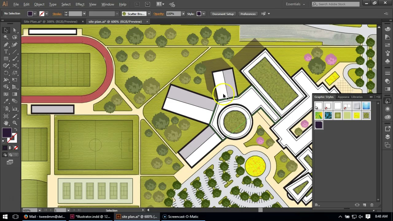 Building shadows for Site Plans in Illustrator - YouTube