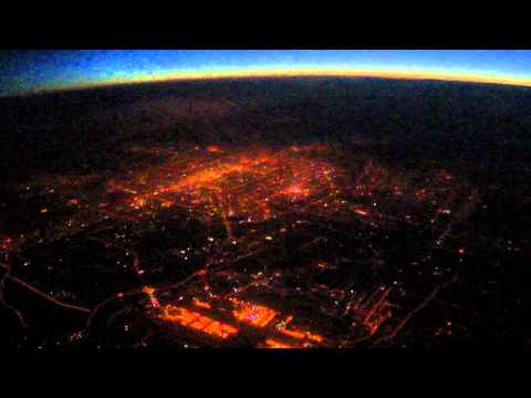 High Altitude Aerial Night View of Beijing City NYE 3Feb11 Fireworks