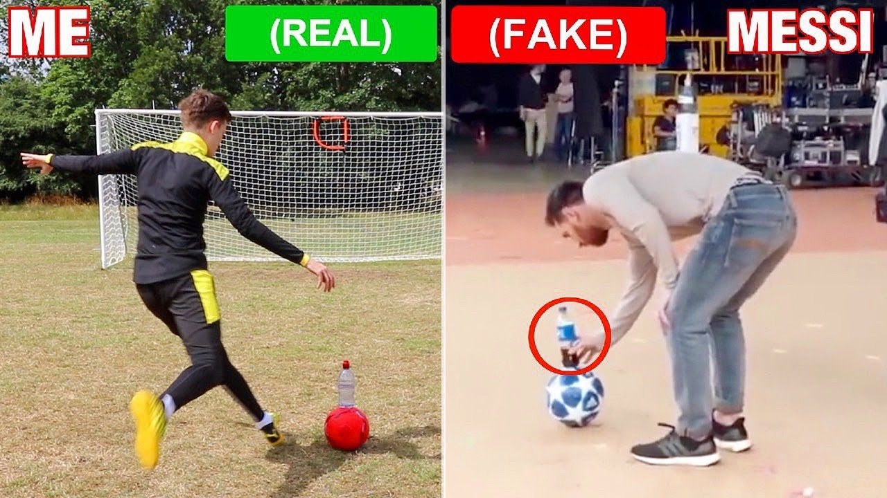 Footballers FAKED these skills, But i did them for REAL !? (Messi, Pogba, Ronaldinho)