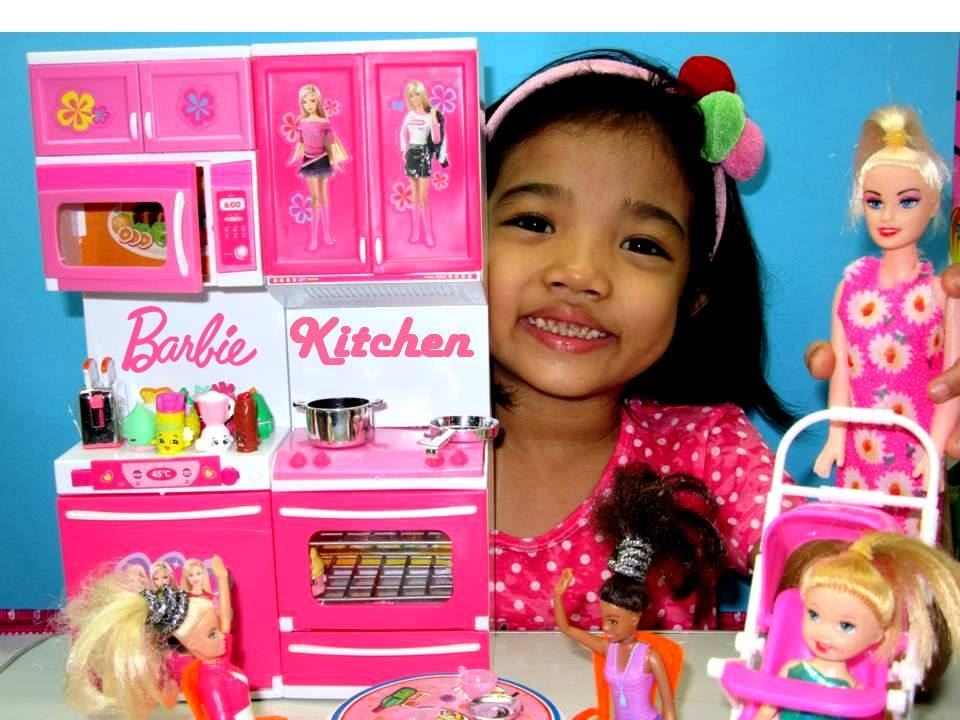 barbie cooking kitchen and barbie princess baby dolls and friends ...