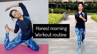 Insight to my honest morning workout routine | weight loss drink | avneet kaur | fitnessWithAK