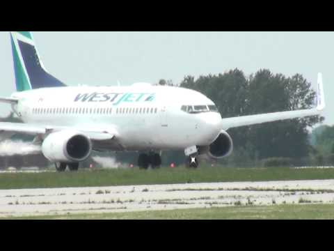 West Jet X 2 departing Hamilton Ontario 6/15/13
