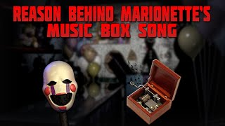 The Secret Behind The Marionette Music Box Song (FNAF THEORY)