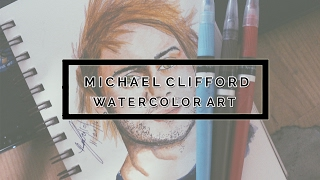 Michael Clifford Of 5 Seconds Of Summer l Watercolor Art