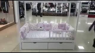 Кроватка домик с ящиками ЛДСП цена 28000 сом обзор 111117