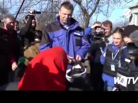 OSCE Man Alexander Hug gets scolded by a Babushka