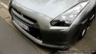 nissan gt r start up accelerations inside the car and details 2012