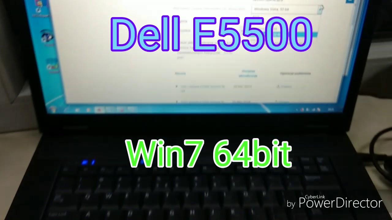Windows 7 64bit on Dell Latitude e5500  All drivers instaled
