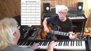 When I'm Cleaning Windows - Jazz guitar & piano cover ( George Formby )y