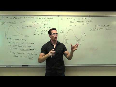 Statistics Lecture 7.5: Confidence Intervals for Variance and Std Dev. Chi-Squared Distribution.