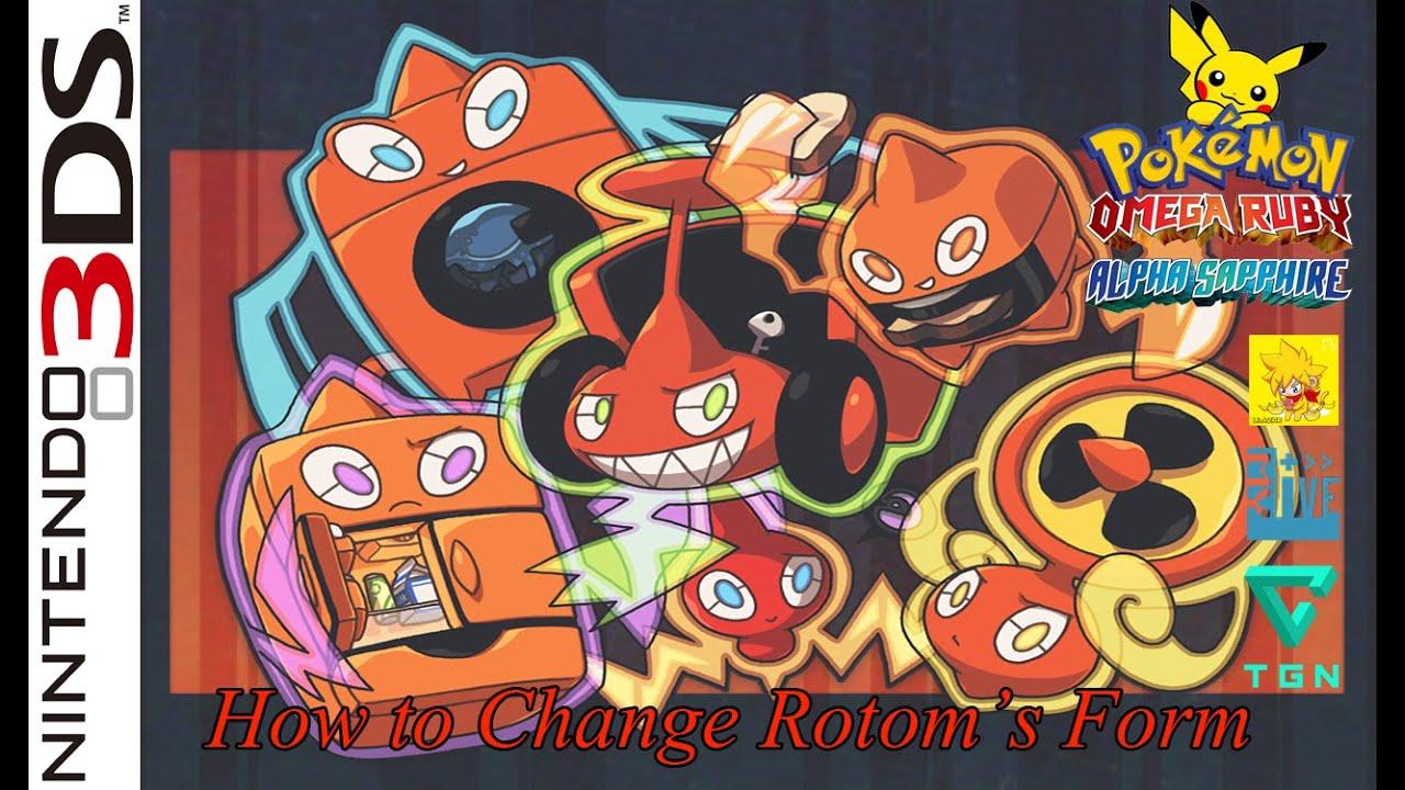 LZ : Pokemon OrAs - How to change Rotom's Form - YouTube