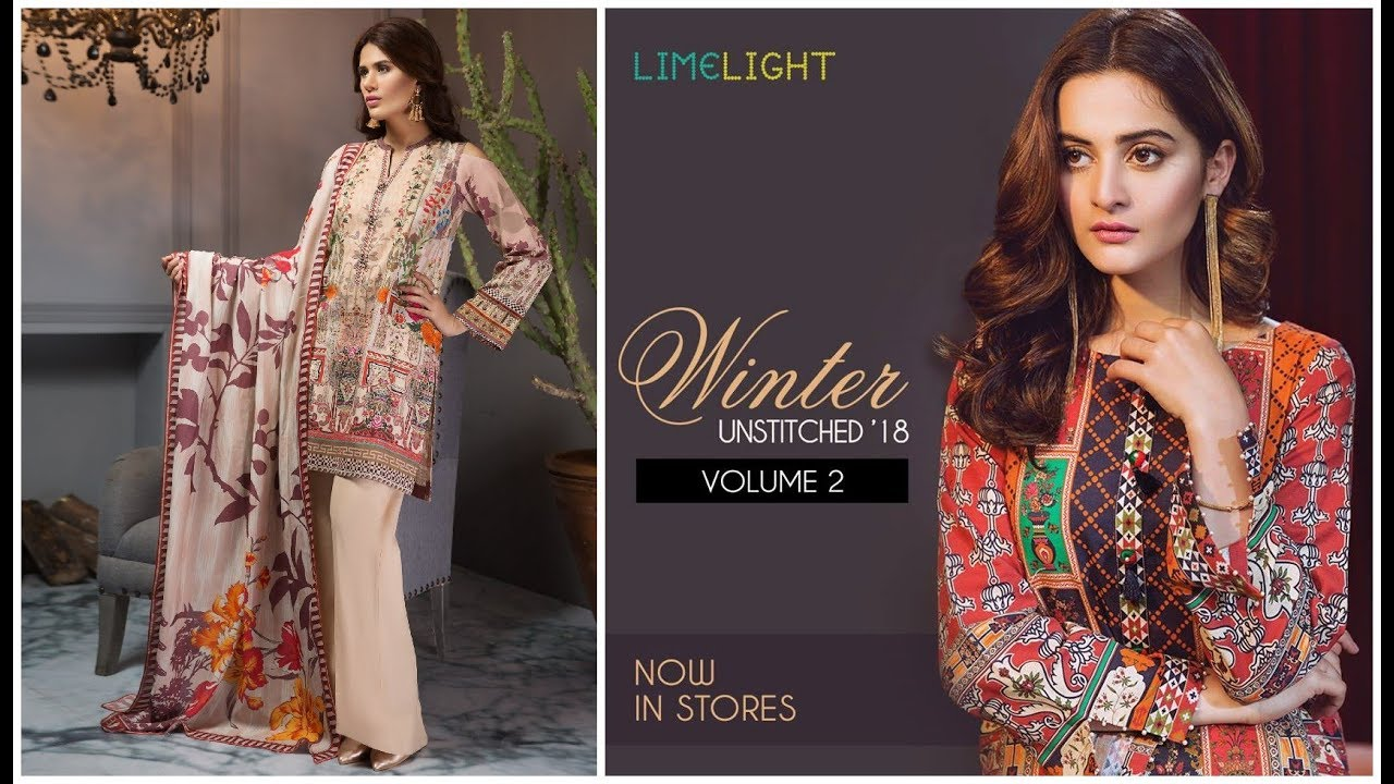 ee285c7f03 Limelight Winter Vol-2 Collection 2018-19=Limelight Unstitched 2 ...