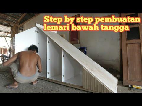 cara membuat lemari bawah tangga - youtube
