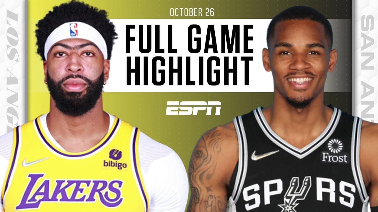 Lakers vs. Spurs - Game Recap - October 26, 2021 - ESPN