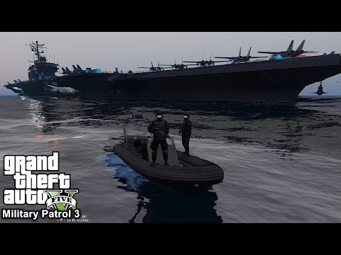GTA 5 Military Patrol #3 | Navy Seals Team Six Taking Out Merryweather Server Rooms | Sea Assault