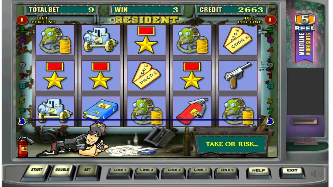 игра резидент игровые аппараты