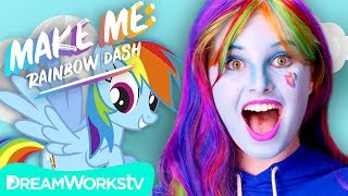 Rainbow Dash Makeup Tutorial (My Little Pony) | MAKE ME
