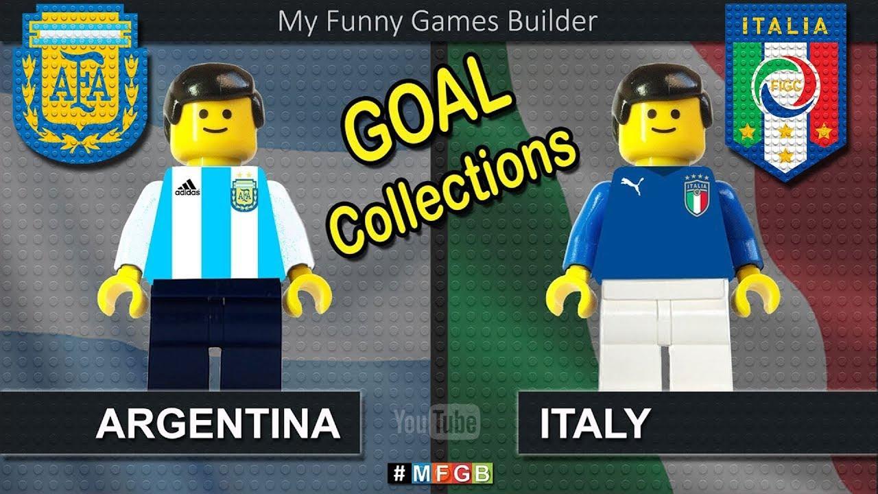 Download Goals Collections • Road To Argentina vs Italy • Argentina Italia • Lego Football Film Goals