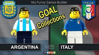 Goals Collections • Road To Argentina vs Italy • Argentina Italia • Lego Football Film Goals